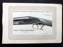 "Mahler 1907 Antique Gun Print. Fusil ""Ideal Perfection"" Type Anglais."